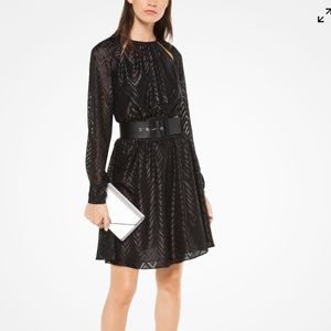MICHAEL Michael Kors Herringbone Jacquard Dress